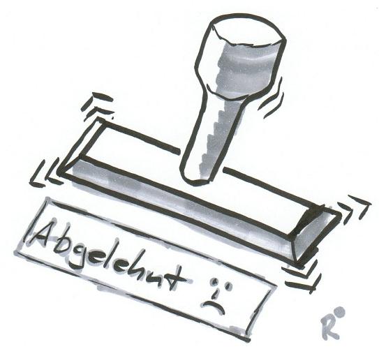 Stempel-HRabgelehnt beschnitten