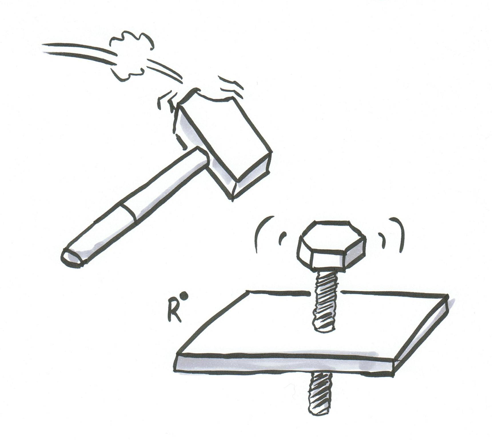 Hammer und Schraube