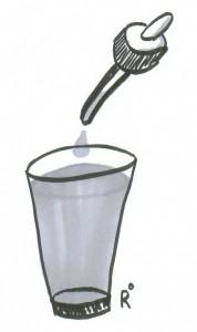 Glas mit Pipette